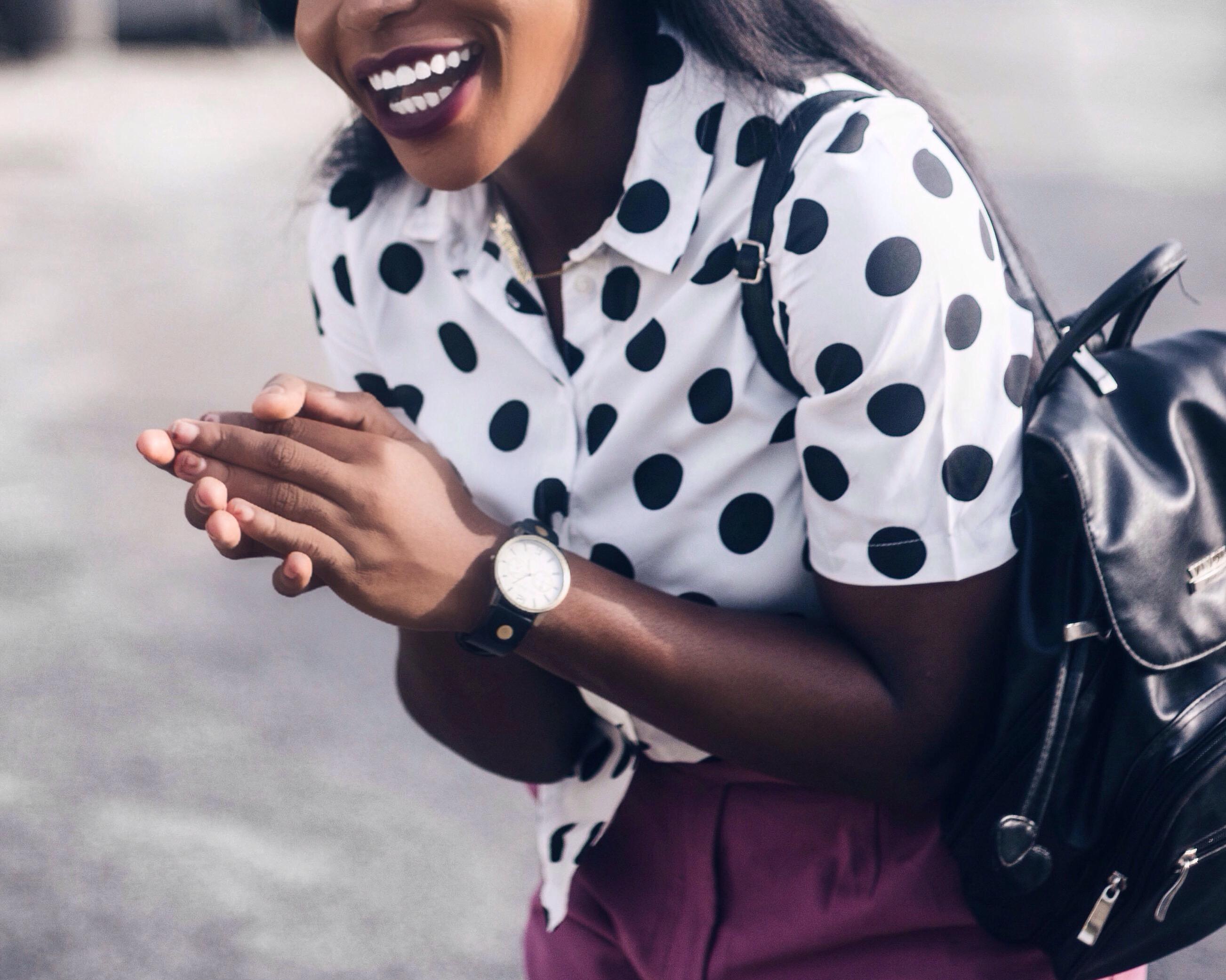 happiness, how to dress happy, polka dots